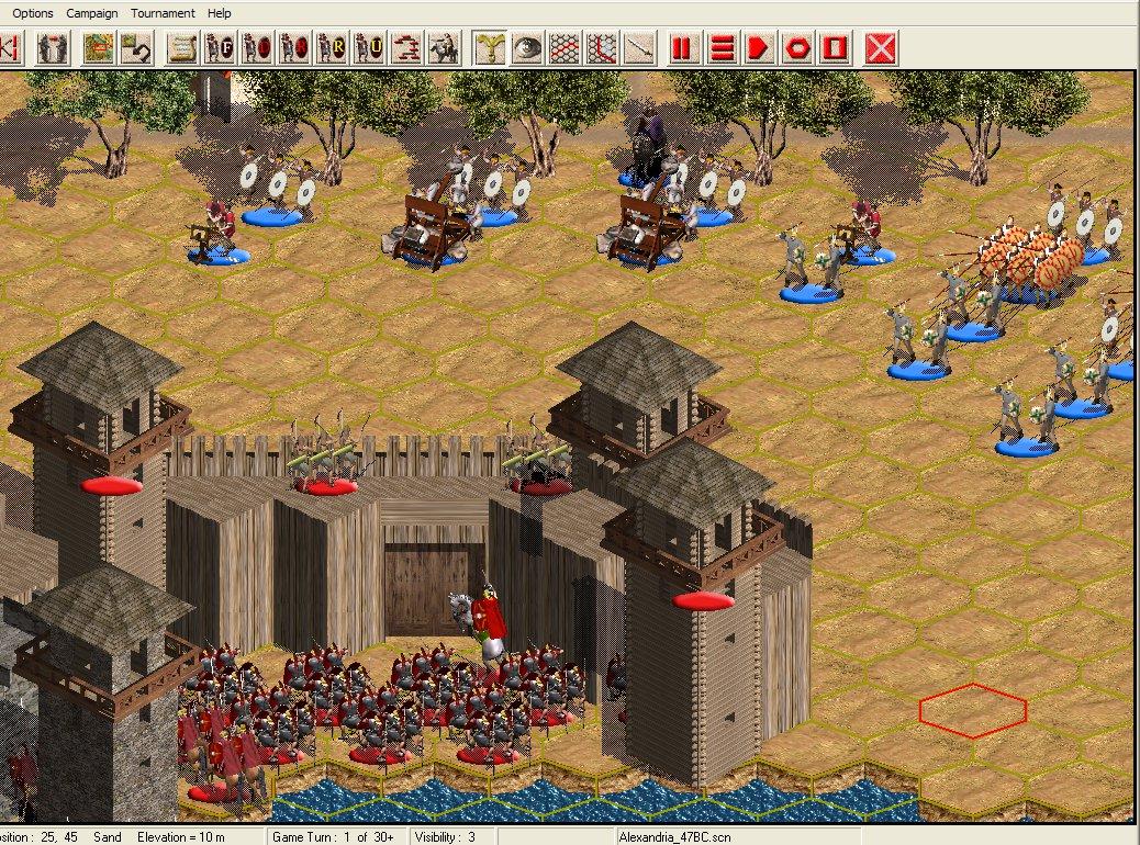 HPS Simulations: Roman Civil Wars